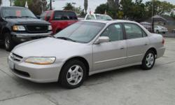 1998 Honda Accord EX 4-cylinder L4 2.3L automatic with 131,xxx miles. Power everything, cold a/c, cd player and lots more!!VERY clean inside and out! 1- Owner vehicle and drives and runs like new! Has a CLEAN title and is smog and safety cerified!