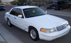 1999 Ford Crown Vic, 130K, power everything, keyless entry & alarm, paint is good, interior is great(no rips or tears!), A/C blows cold, runs great, just needs a driver.
