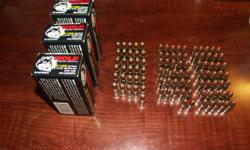 217 rounds of 9mm Luger ammunition. Consistiing of: 3 ea. Wolf 50rd boxes of 9mm 115gr copper FMJ 31 rds of FC 9mm copper JHP 67 rds of FC 9mm copper FMJ