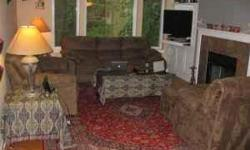 All furniture approx. 5 years old. Living Room Set includes: 1. 1 loveseat and 1 long couch 2. 1 chair with ottaman 3. 2 end tables 24x24x22 with 1 matching coffee table 28x51x19 plus 2 table lamps ( very good condition ). $500 entire living rm set. Buyer