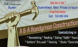 """We do various types of jobs. We are specializing in : * Remodeling * Roofing * Siding *Soffit * Fascia * Gutters* Dry Wall * Fencing* Decks* Porches*Steps* Concrete Ect.......Nothing to """"Big or Small """" .We have own equipment,Along with years of"""