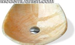 Gorgeous Yellow Onyx Fong Stone Designer Bathroom Vessel Sink. Dimensions: 5.5 in x 17 in. Point to point and Edge to edge is 15 in. SKU: SN- 222 DK-Yellow Honey Onyx DREAM Sink Enter coupon code CLASSIFIED1 at check out to received 5% off your order of