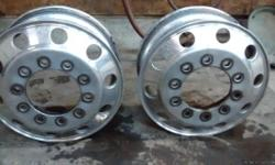 22.5X8.25 2 Accoride aluminium rims in good condition 10 hole For more information contact 315-941-5155 315-723-8882