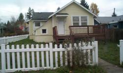 One bedroom cottage with livingroom, den and basement. Can be used as two bedroom. Drive by 1931 11th Street Bremerton then call -- to see inside. Lease to own possible.Owner/Broker.