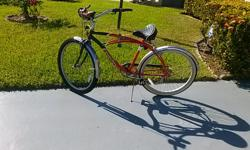Aero cruiser (body glove) 6 speed bicycle. new front tire and tube. new seat. bicycle runs very good. this is an oldy but goody. asking $ 125.00 or best offer. call sal at --