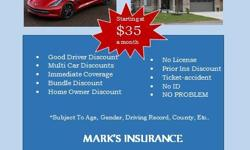 If you think you're paying too much for auto insurance, you're probably are. Call Mark's Insurance today, we can help you save some cash. Auto liability can be as low as $35/month. The sooner you call us, the sooner we can help you save!! Call today,