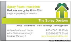 Spray foam insulation is one of the newest and most exciting product in the home, business, and metal building construction field. Are you tired of shelling out your hard earned money every month on increasingly high utility bills? The Spray Doctors can