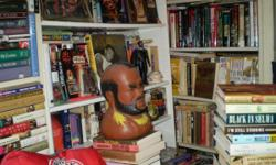 I have over 2000 African American books. The subjects are biographies, civil rights, sports, the sixities, poetry, novels, self help, heath, cookbooks and much, much more.