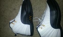 i m selling these new air jordan 12 taxi that came out last month only worn 2 times.. still have box with shoes size 10.5 9/10 condition...serious buyers call r text