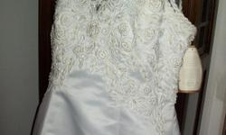 ALFRED ANGELO VINTAGE RARE WEDDING GOWN PLUS SIZE 16 Seed Beads,Crystals WHITE EXQUISITE WHITE WEDDING GOWN BEADED SEQUINS CRYSTALS SO ELEGANT PRICED TO SELL RUSH  SHIP ALFRED ANGELO FOR JC PENNY Charming White Sweetheart Beads