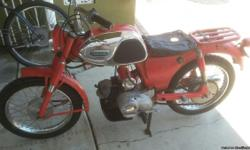 THIS BIKE HAS 238 ORIGINAL MILES ORIGINAL TIRES EVERYTHING ISSTOCK 1963 RUNS LIKE NEW STILL PROBALLY HAVE TO BREAK IT IN LOL YOUR NOT GONNA FIND A BETER 53 YEAR OLD YO1 YAMAHA 80 CC TRAIL BIKE CO;OR IS RED SEAT NEEDS TO BE RESTORED #2700 OBO 562 392 2222