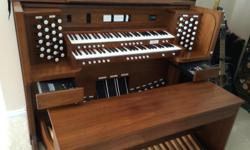 Beautiful Allen Renaissance Quantum Organ: 8 years old, 5 speakers, full pedalboard, 2 manuals, 3 volume pedals, midi unit, controller drawer with memories, transparent music holder, great for home or church. If interested, I can send a list
