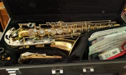 Yamaha YAS-26 alto saxophone. Bought for a little over $2000 in around 2008 for junior high and high school band. Willing to negotiate on price