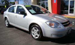 The economical and sporty Chevy Cobalt will suit any kind of driving need, whether it's for commuting, driving around town, or going out on an adventure! Plenty of seating for 5 adults (more than enough room for kids), automatic transmission, CD, air