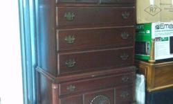 """This is a wonderful American antique Philadelphia high boy chest of drawers dresser that is made out of mahogany. The antique dresser has 7 drawers and is 72"""" tall, 36"""" wide, 18"""" deep, and it is in great condition! This is a wonderful solid piece of"""