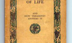 A 1911 COPY of The Riddle of Life and How Theosophy Answers it: by Annie Besant. The book is in fine condition for being 101 years old, pages do have foxing and crease on back. Has four colour plates spine is perfect. Published in London.  Price