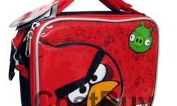 Angry Birds Lunch Bag - Angry Birds Lunch Box Click Here to Order!!! Angry Birds Lunch Bag, Features: Unzips on 3 Sides Handle Strap Shoulder Strap Insulated Measures Approximately: 9.5 Wide x 8 Tall x 3 Wide (Inch)