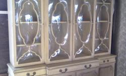 """I'm selling an antique china cabinet. It is 6""""feet 8""""inches tall, 6""""feet long and 1 1/2 thick. It is a nice heavy and sturdy piece. I'm asking $400.00 or best offer. If you have any questions please feel free to call me, 232-270-5486 ask for Mario. Thank"""