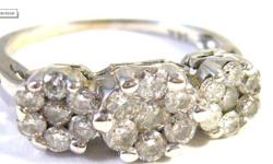 DATA SHEET Age: 1st half of 20th century Metal:  White gold Purity: 14 kt - (585/1000) Ring size: US 8 Inside diameter