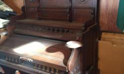 Antique pump organ. Beautiful piece of furniture. No deliveries. Cash Only.