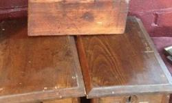 Two wooden antique boxes and unique antique wooden test tube holder