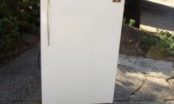 SMALL WHITE HOOVER APARTMENT SIZE REFRIGERATOR. WORKS GREAT. $ 40 . CALL DEBBIE 541 344-2303.
