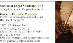 """You are not alone. Approximately 70% of family law litigants in Florida are not represented by an attorney. The term for this is """"Pro Se"""". Suncoast Legal Solutions is a member of the Florida Association of Legal Document Preparers.  We offer a safe,"""