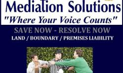 ATTENTION: LAND OWNERS - KNOW YOUR BOUNDARIES! Premises Mediation Boundary Mediation Premises Liability Mediation Home Owner Insurance Claims For any and all Land discrepancies, claims, lawsuits contact Choice Mediation Solutions to assist you with the