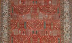 This is a beautiful 8' X 10' Aryana Rug. Hand spun wool with vegetable dyes and hand knotted in Pakistan by an Afghan refugee weaver. It has approximately 100 KPSI. No holes or rips. Retail cost of $6700.00. Willing to let it go for
