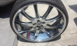 "4 Brand new tires 275/25ZR26 , Rims 26"" like new in very good conditions., CALL FOR OBO TO 562-469-8213"