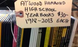 A great selection of High School year books or school annuals from Atwood Hammond High School in Atwood Illinois is available for sale at the Wild Birds Antique Store in Champaign, Illinois. We are located at 301 W. marketview Dr in the Wildbirds and More