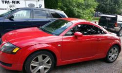 Beautiful bright red sporty Audi tt turbo,loaded and black leather interior, only 2000 kms on new rebuilt engine ,new transmission, new turbo, new water pump, new timing belt,(all bills to prove),so nothing needs to be done so you can just sit back