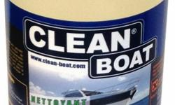 AVAILABLE NOW!!! NEW!!! CLEAN BOAT - 98% Biodegradable - Made in France CLEAN BOAT - ONE PRODUCT TO CLEAN AND PROTECT CLEANS all of your surfaces such as the hull, deck, teak, upholstery, inflatable ( PVC or Hypalon), stainless steel, sails, compartments,