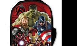 Whether assembling a team of heroes or just your personal belongings, the Avengers: Age of Ultron Avengers 3-D Backpack is just what you've been looking for! Featuring Iron Man, Captain America, Hulk, and Thor in a 3-D lenticular action poses on a