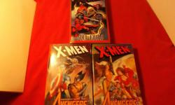 LOT of THREE NM Avengers/X-Men Paperback Books, Marvel Comics/Berkley Books, 1999!! These are Virtually in MINT condition by Overstreet's grading standards and retains full Color & Gloss, sit Flat and is very clean with all pages are white &