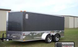 Stock #:order Serial #:order Description :::::::: 7x14 tandem enclosed trailer standard features: v-nose front w/ solid front wall construction, rear ramp door & spring assist, 32? side door w/ rv flush lock w/ keys, thermacool ceiling,