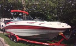 2008, 26', 5.7L, 215 HP, 150 hours, 2 sets of skis and 2 wake boards, Life jackets, new tube/tow rope, Sport cover and Road cover. All in Excellent Condition. Stored Indoors.Make me an offer.Great Deal!!!