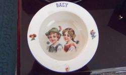 This is a antique baby bowl made in Czech. It is in good condition. Great gift for the holidays, a rare one.