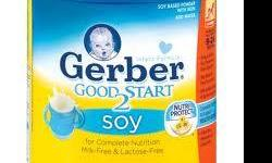 Gerber Good Start 2 Soy Toddler & Infant Formula For complete nutrition Milk FREE & Lactose-FREE 24 oz can I have 9 available My son drinks other type of milk now $ 10.00 per can regular price $22.00