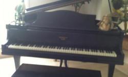 Black Baby Grand Piano. Monarch Cincinnati Chicago