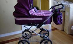 An amazing ? LEO ? pram stroller for winter and summer, from newborn to three year old. Import from Europe, limited edition 2008, weary elegant. I recommend this stroller to anyone who loves an amazing stroller with lots of style, very