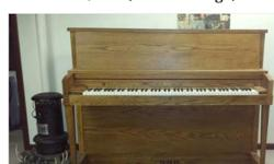 All in working condition, Used for 1 year lessons No bench Guessing from the information on back about the first tuning that it is a mid 70's model The paper tag that was on back with information is half missing. CASH-CASHIER CHECK, PAYPAL -- *IN