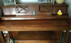 Walnut piano, good condition. Plays great.