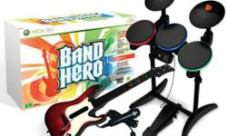 Im selling a brand new Band Hero for PS3. This system includes: * 1-wireless guitar controller * 1-wireless drum set controller * 1-microphone * 1-game (game has 63 songs & bonus videos by Taylor Swift, No Doubt, Maroon 5) This game also works with ALL