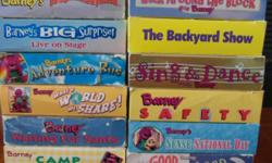 There is a total of 90 tapes in all, see additional pictures for titles. All are in good to very good condition and in original boxes/cases. Title's include Barney,The Wiggles, Blues Clues, Pee Wee's Playhouse gift set, Mary Kate and Ashley and many
