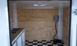 Stock #: custom order Serial #:order Description :: 10 feet enclosed and 6 foot porch, 32? side door w/ rv flush lock w/ keys,thermacool ceiling liner, (1) interior 12 volt dome light w/ switch, non powered roof vent braced for a/c, 24? atp stoneguard