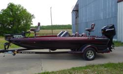 2001 Ranger Comanche 518 vx dual console with 200 Opti-Max low hrs.Minnkota Fortrex, Lowrance LMS 520c & X-135,2 Folding and Butt Seats,3 Bank Charger,Tilt Steering,AM/FM CD Playerand Rager Cover,4 Blade Trophy Prop. All in great shape. Call Ron