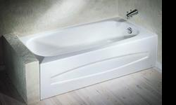 White bathtub - American Standard. 60 inches. left handed. Selling it because we need room for storage.