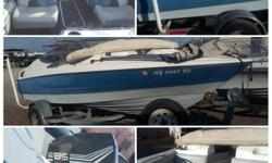 '92 Bayliner Boat 18 ft. seats 6-8 people. Bayliner comes equipped with 85 merc engine, stereo, fish finder, new bimini top, 2 new batteries, Esco trailer to haul, and more. Great Boat. Lake Ready!