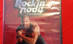 Beachbody rockin body:3 workouts new...never opened -rock it out -hard core abs -booty time